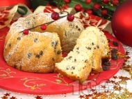 Лесен коледен кекс със стафиди за десерт